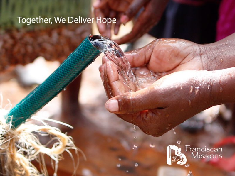 Water is a precious gift that sustains life. Please give to the Franciscan Missions today.
