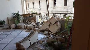 Beirut-Lebanon-interior-building-damage, Franciscan-missions-emergency-relief-beirut,