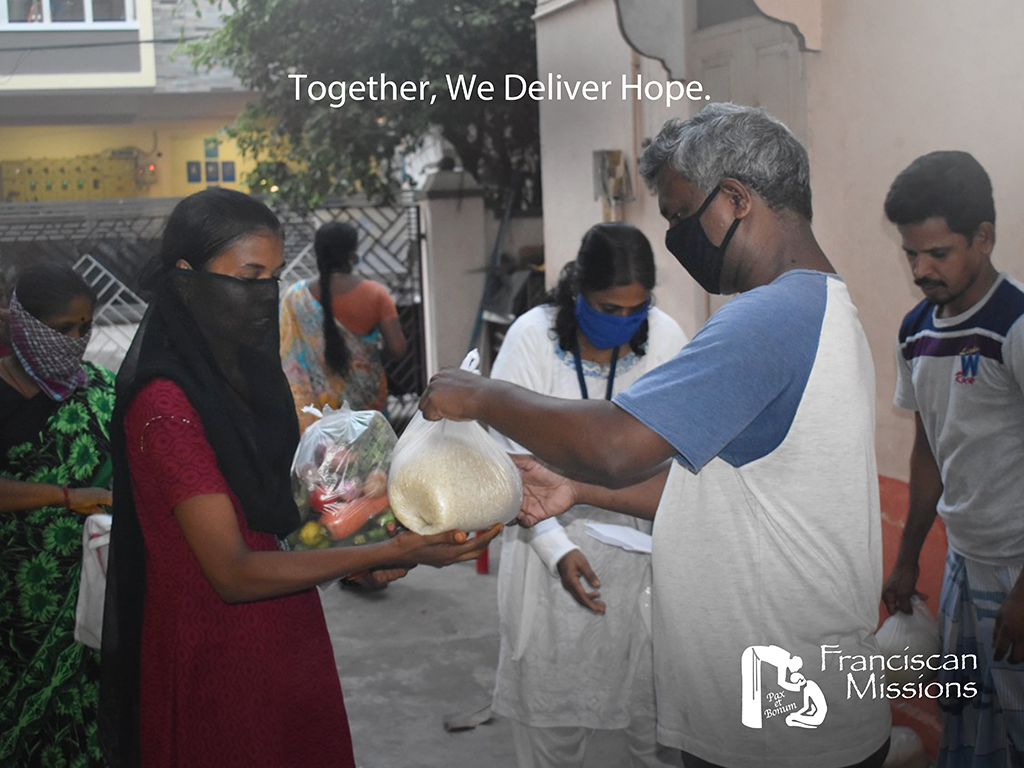 Franciscan missionaries, Franciscan missions, feeding the poor in India