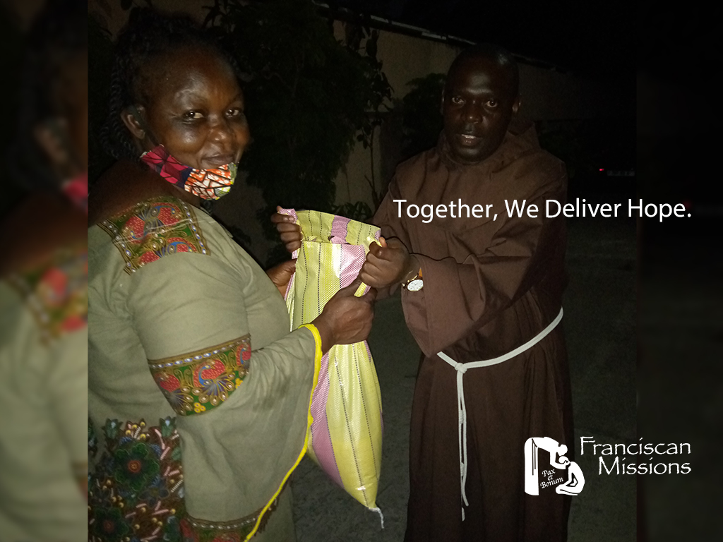 Franciscan missionaries, feeding the poor in Congo,