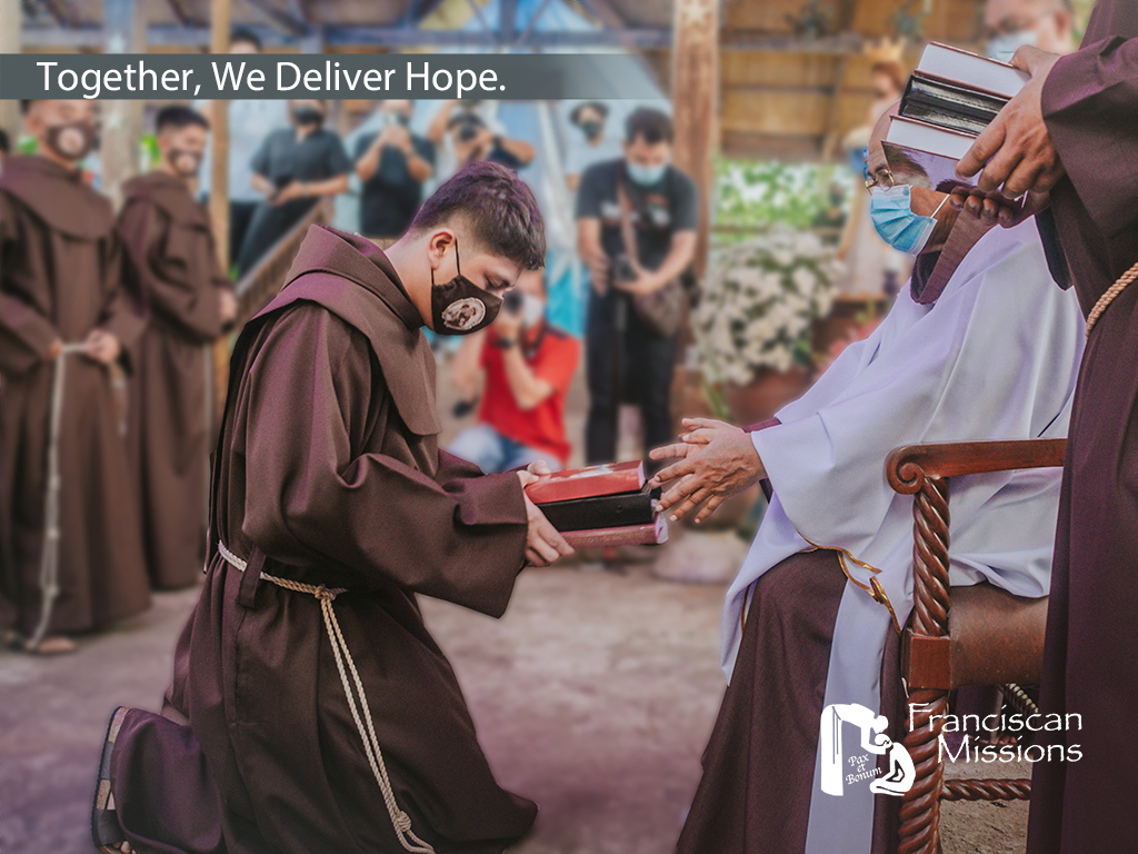 Your generous gift, legacy of hope, Franciscan Missions, OFM, Formation, Franciscan Friar, Vocation, Hope